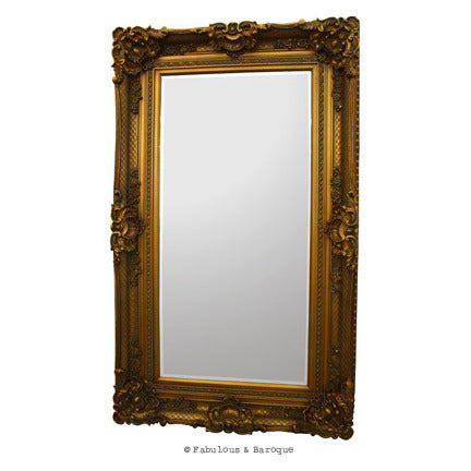 Grand Beau Wall Mirror 5ft x 3ft - Gold Leaf