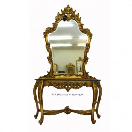 Fabulous & Rococo Console Table & Mirror - Gold Leaf