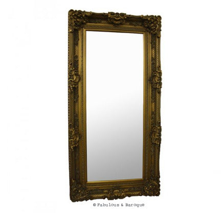 Grand Beau Wall Mirror 6ft x 3ft - Gold Leaf