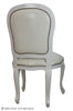 Fabulous French Side Chair - White Croc