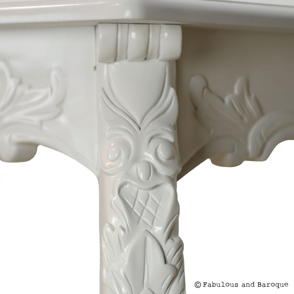 Fabulous French Carved Dining Table - White