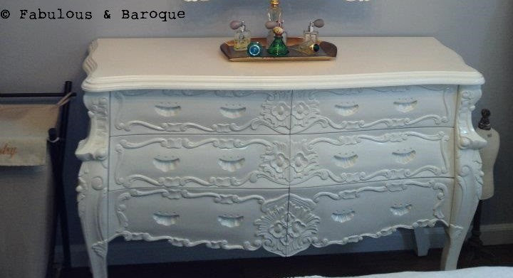 Fabulous & Rococo - Custom 6 Drawer - White - Client Photo