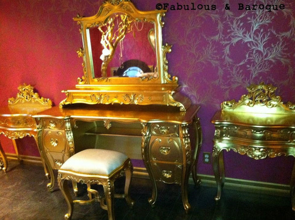 Fabulous & Rococo Dressing Table - Gold Leaf - Client Photo