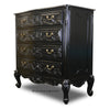 Gabriella Carved 4 Drawer Chest - Black
