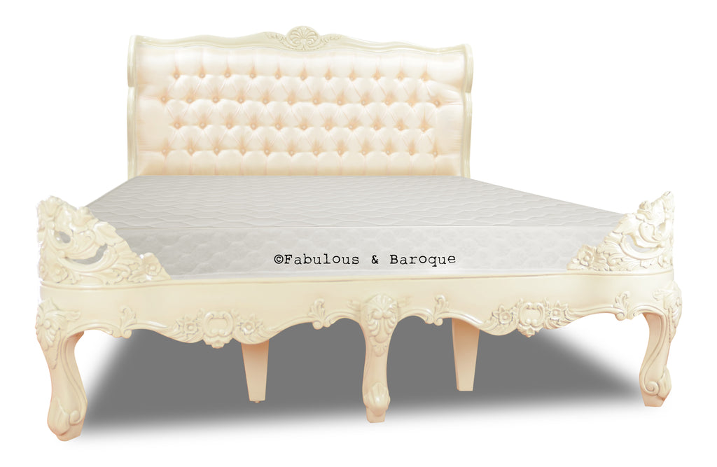 Genevieve Bed - Ivory