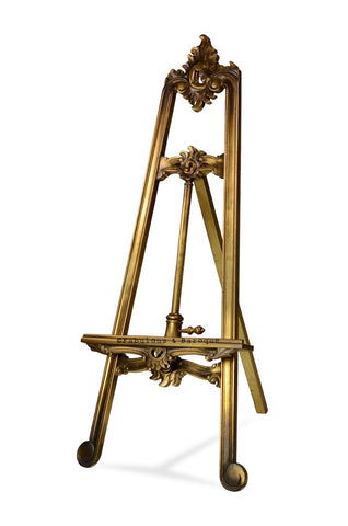 Artwork Display Easel - Gold Leaf
