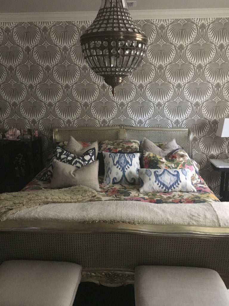 Sweet Delilah Silver Baroque Bed - Client Photo