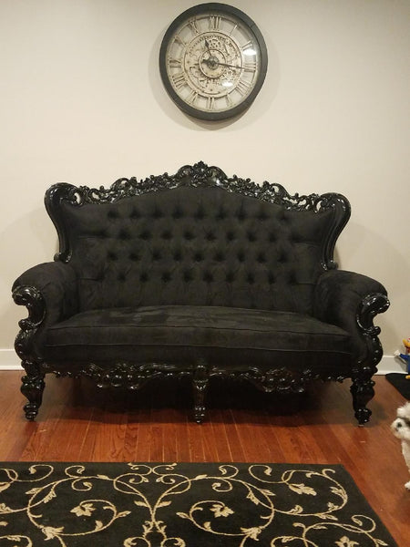Belle de Fleur French Love Seat - Black - Client Photo