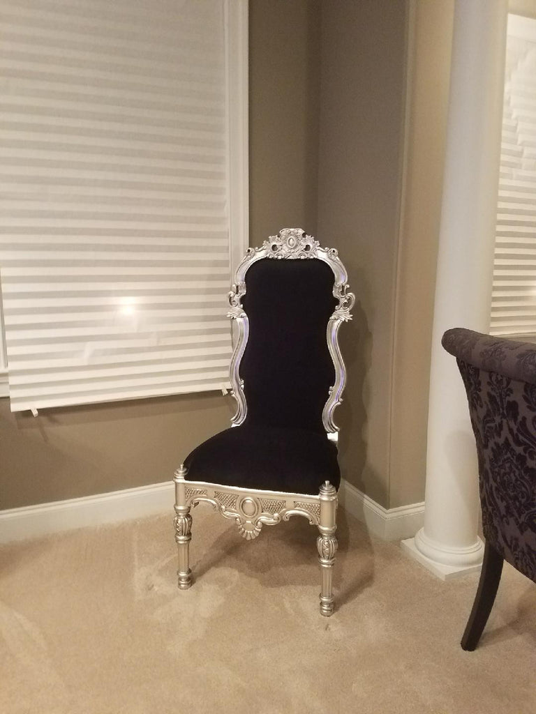 Noblesse Chair - Silver Leaf - Client Photo