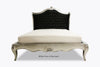 Amelie Tufted Black Upholstered Bed - Silver Leaf