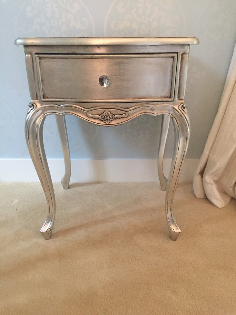 Sabine Side Table - Silver Leaf - Client Photo