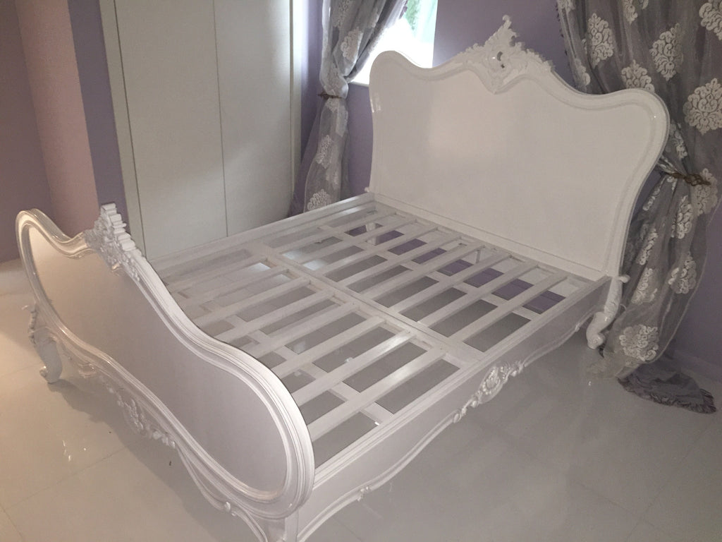 Sabine Shabby Chic French Bed - White - Client Photo