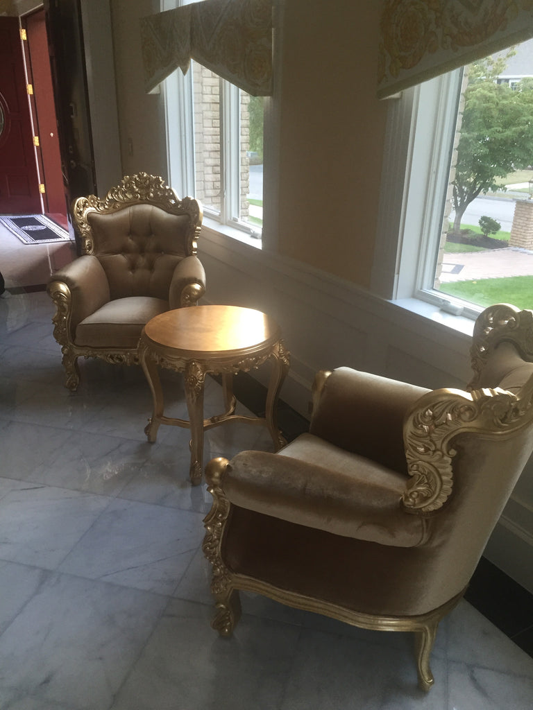 Belle de Fleur - Gold Leaf  & Gold Velvet - Client Photo