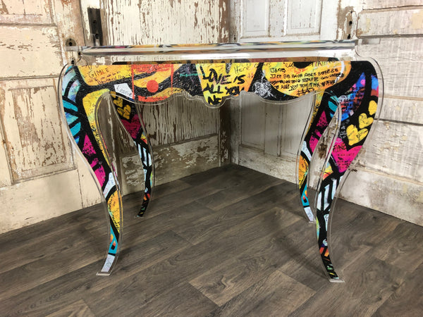 Street Art Console Table - Yellow