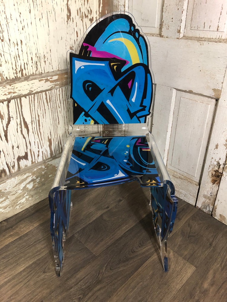 Street Art Chair - Blue