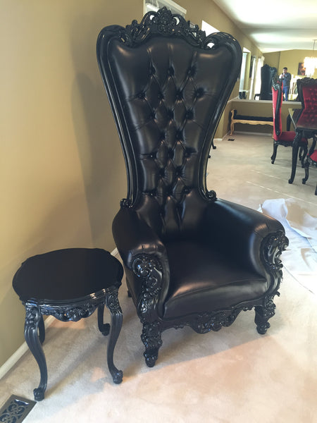 Gryphon Reine Chair - Black Leather - Client Photo
