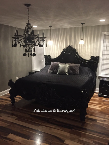 Royal Fortune Montespan Bed - Black - CLIENT PHOTO