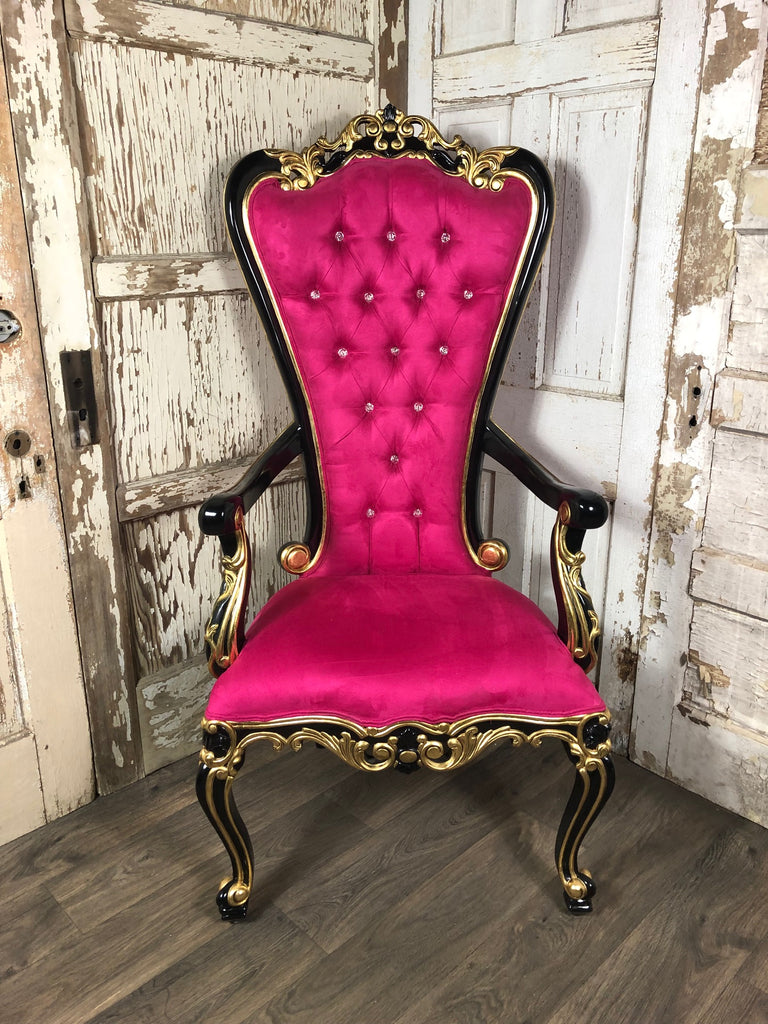 Gryphon Reine Arm Chair - Fuchsia, Gold & Black
