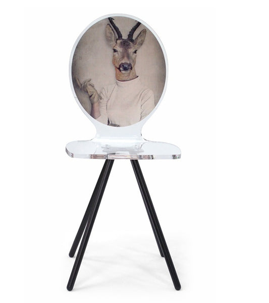 Graph Chair - Lady Antelope with metal legs