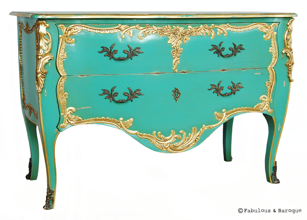 Louis XV Commode - Aqua