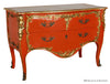 Louis XV Commode - Tangerine