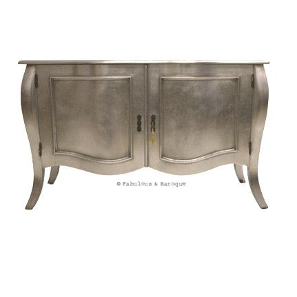 Estelle French Sideboard - Silver & Hot Pink