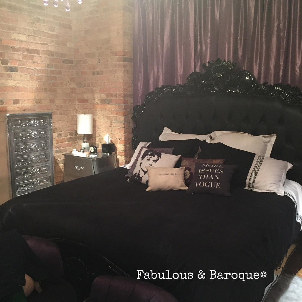 Night's Dream Tufted Bed - Black - Client Photo