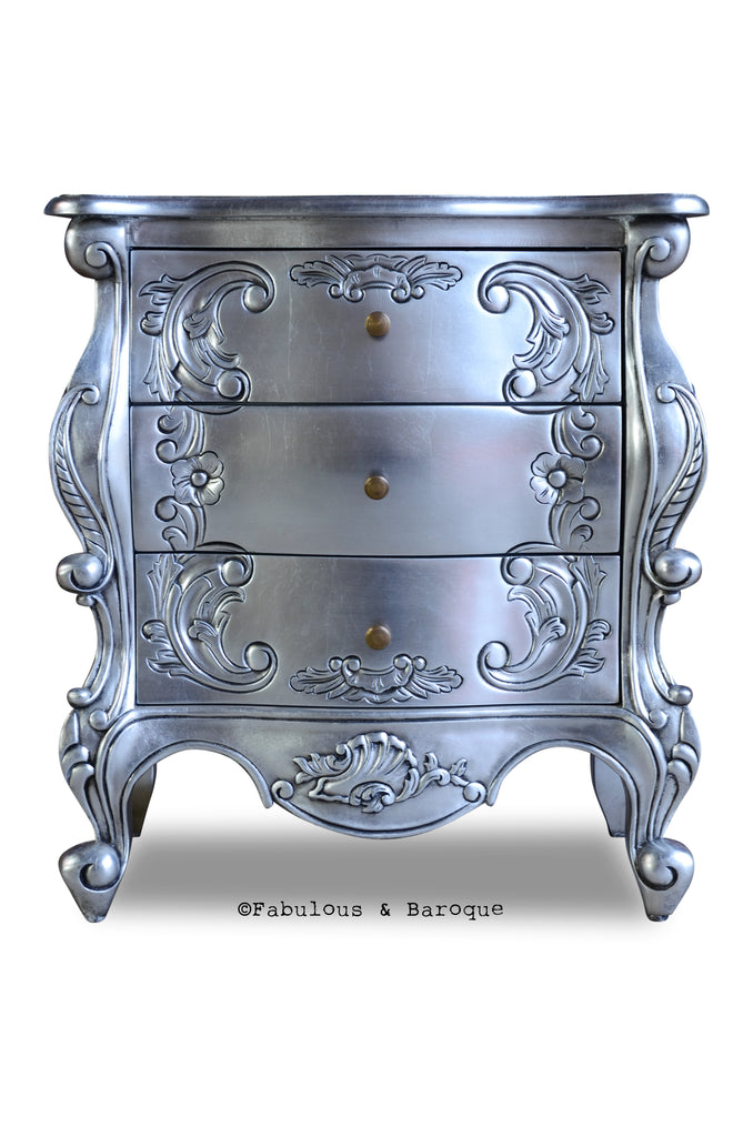 Night's Dream Side Table - Silver Leaf