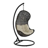 Parlay Outdoor Swing w/ stand - Espresso w/ beige cushion