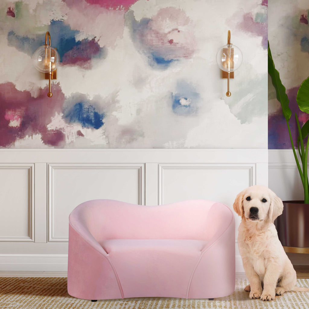 Poodle Pet Bed *Available in Blush, Navy & Forest Green*