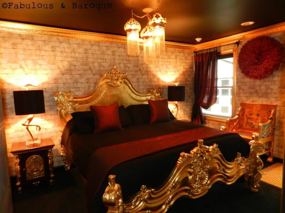 Royal Fortune Montespan Bed - Gold Leaf - Client Photo