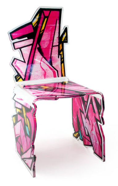 Street Art Chair - Pink