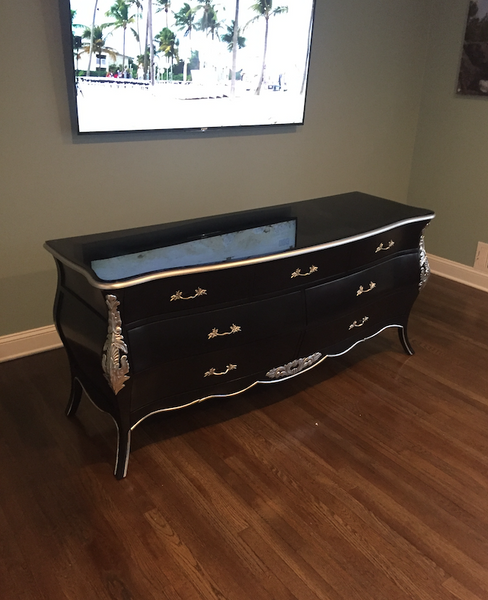 Bordeaux Bombay 6ft Drawer Chest - Black & Silver - Client Photo
