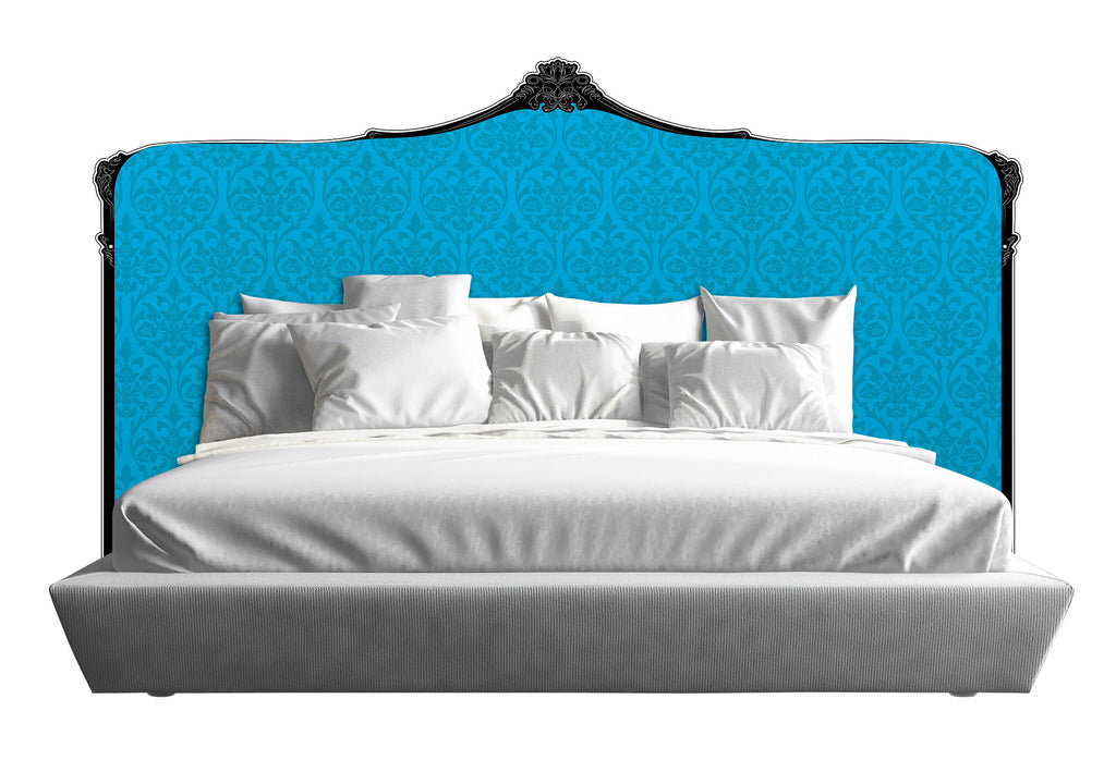 Baroque Headboard - Blue *Queen, King & Cali King*