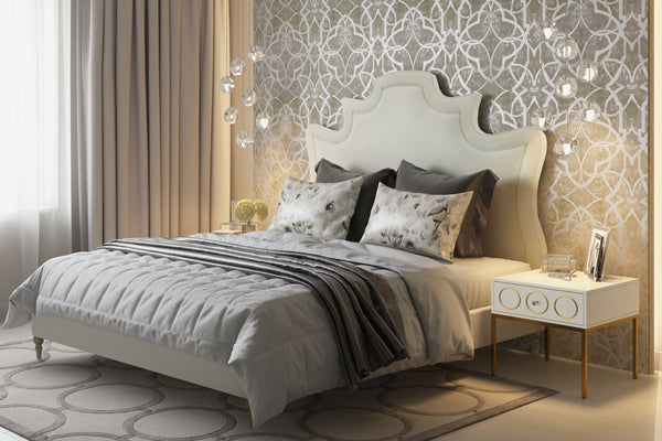 Serenity Velvet Bed *Available in Grey & Cream