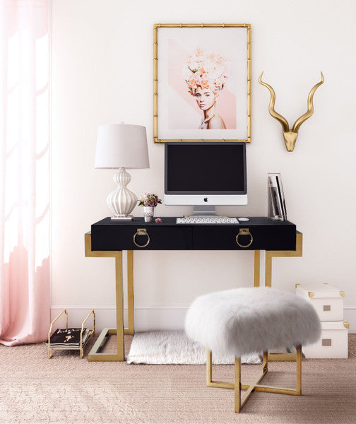 Majesty Desk - Black Lacquer