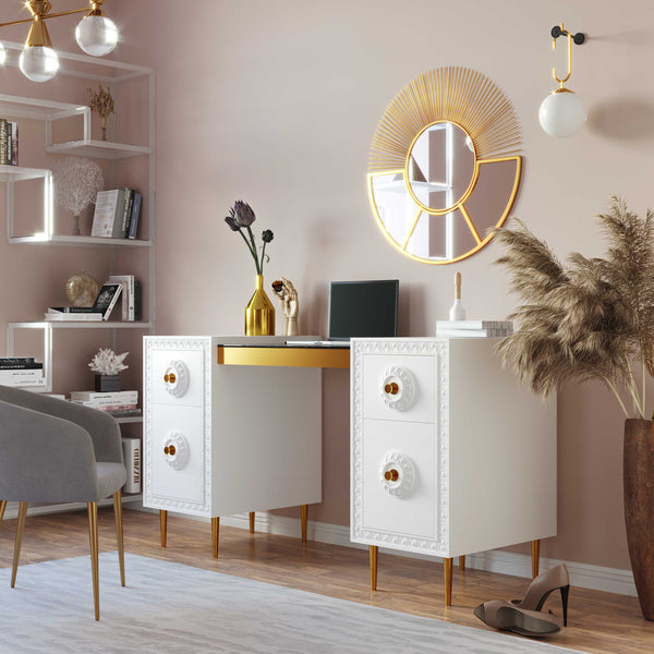 Bovie Lacquered Desk *Available in White & Grey