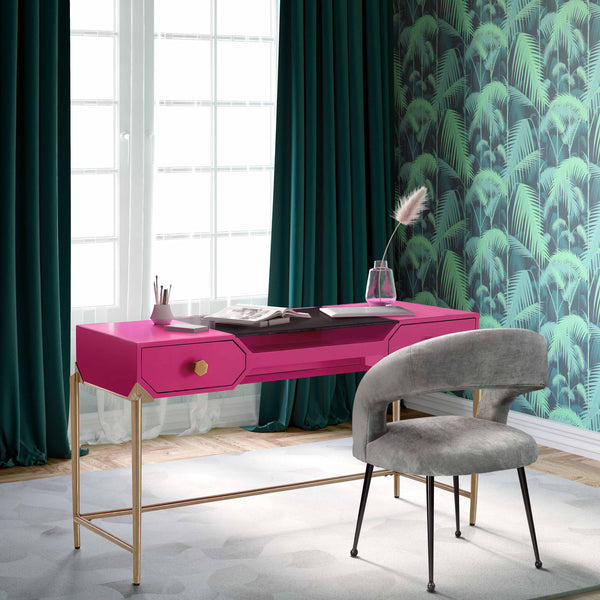 Bajo Lacquered Desk *Available in HOT pink & white