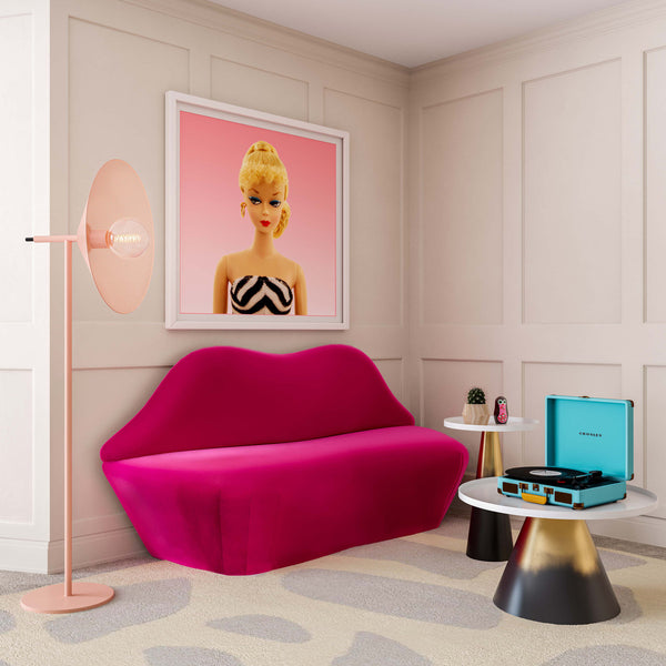 HOT Pink Lips Settee