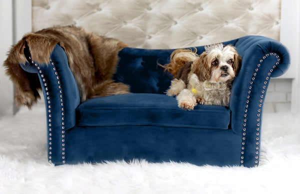 Dachshund Pet Bed - Navy
