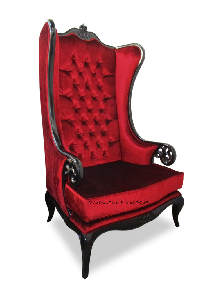 Fabulous and Baroque's Theban Chair - Red velvet