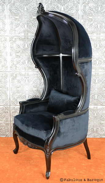 Victoire Balloon Chair Black Fabulous And Baroque