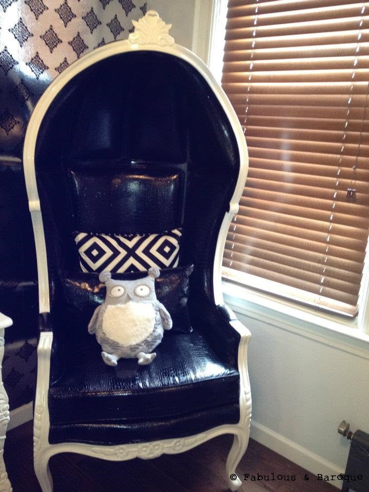 Victoire Balloon Chair - Black & White - Client Photo