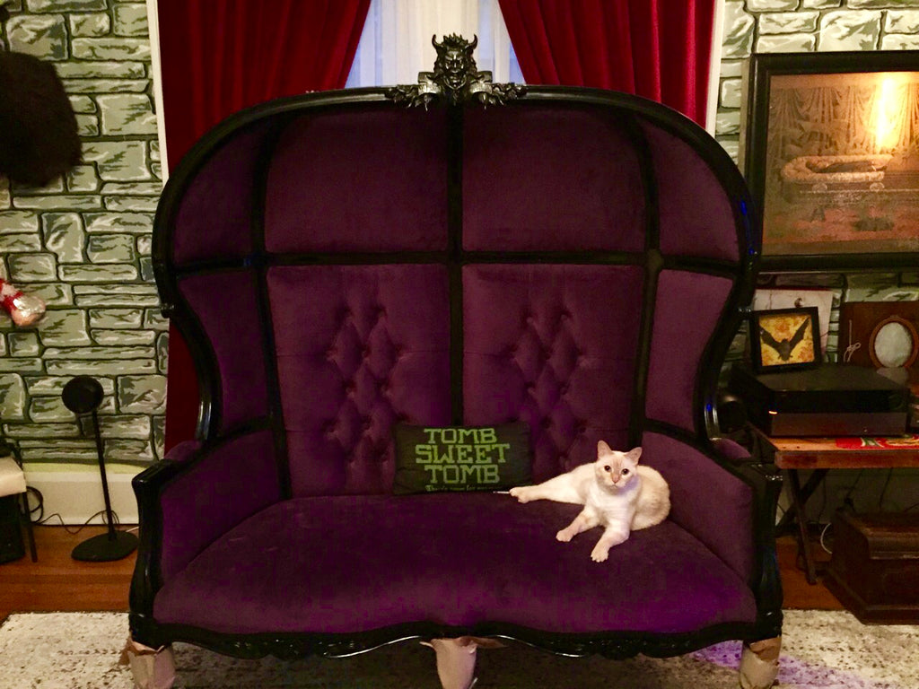 Victoire Gargoyle Loveseat - Client Photo