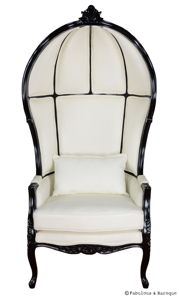 Victoire Balloon Chair - White & Black