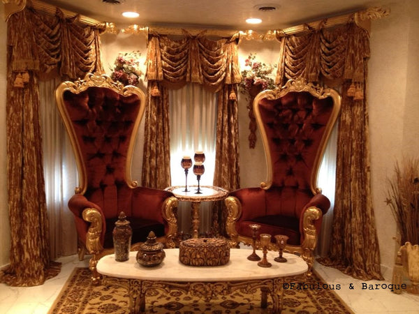 Gryphon Reine Baroque Chair - Gold & Amber - Client Photo