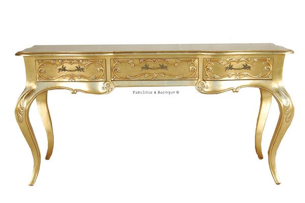 Amelie Writing Desk - Gold Leaf
