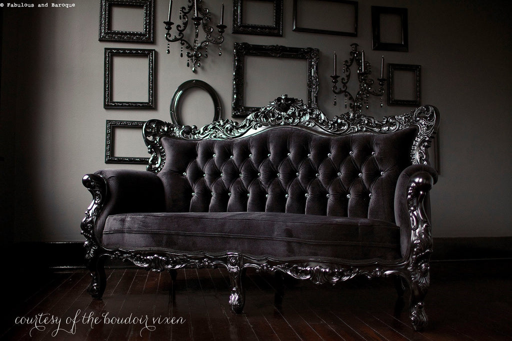 Belle de Fleur French Love Seat - Black Client Photo