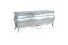 Bordeaux Bombay 6 ft Chest of Drawers  - Silver Leaf