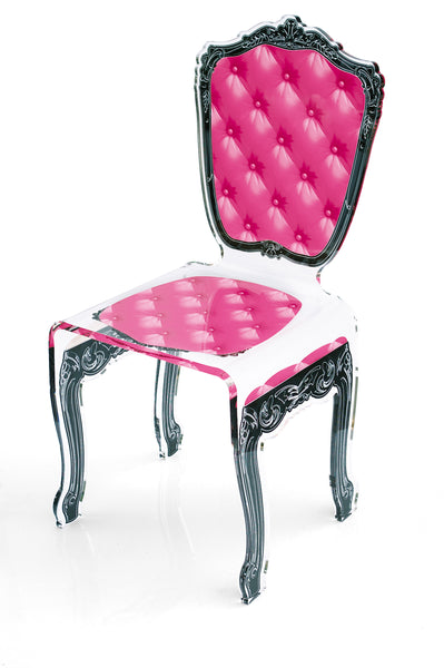 Capiton Chair - Pink